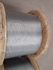 kualitas baik Kabel Kawat Baja & ASTM A 475 Galvanized Stranded Steel Wire For Overhead Fiber Optic Cable Dijual