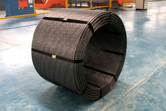 kualitas baik Kabel Kawat Baja & Railway PC Steel Wire Strand As Per ASTM A416 Grade 270 For Construction Dijual