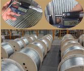 Cina 3 8 Inch Galvanized Guy Wire ASTM A 475 EHS With Wooden Reel Packing perusahaan