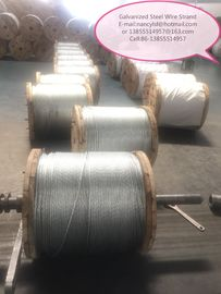 Cina Durable EHS Galvanized Cable Wire , Cable Steel Wire With Coil / Wooden Reel Packing Type pabrik