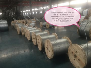 Cina Professional High Tensile Galvanized Steel Wire 0.4mm-5 Mm For Static Wire pabrik