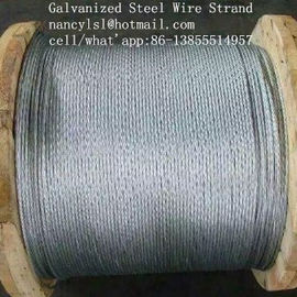 "Cina Multifunctional Galvanized Steel Wire Strand , 3 /8 ""Galvanized Aircraft Cable For Messenger pabrik"